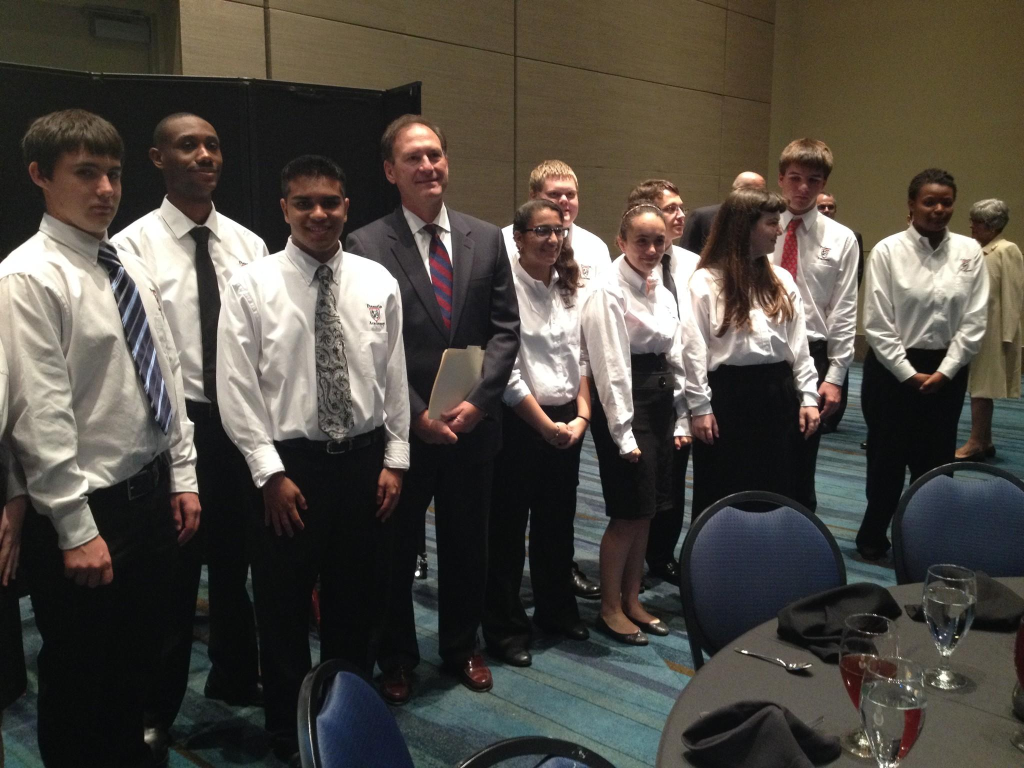 U.S. Supreme Court Associate Justice Samuel Alito meets with Potentia Academy students in West Palm Beach on Feb. 3, 2014.