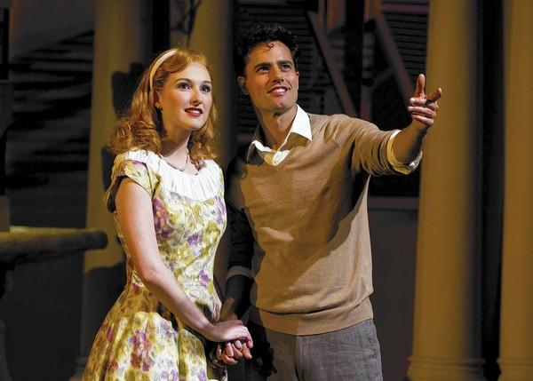"David Burnham and Erin Mackey in South Coast Repertory's 2014 production of ""The Light in the Piazza."""