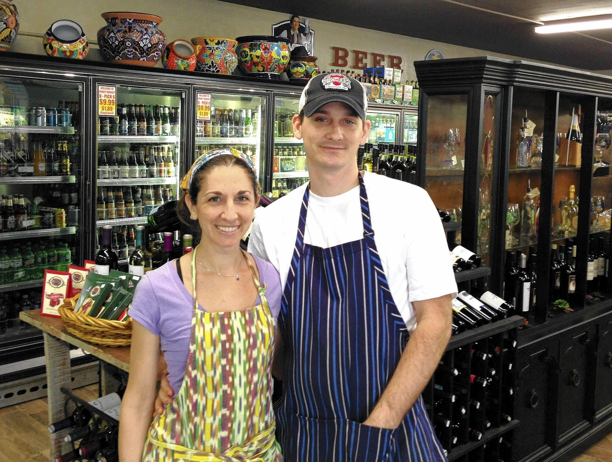 Kelly Reed and Michael Reed, children of the owners of the new Howey Market, Glen and Janet Reed.