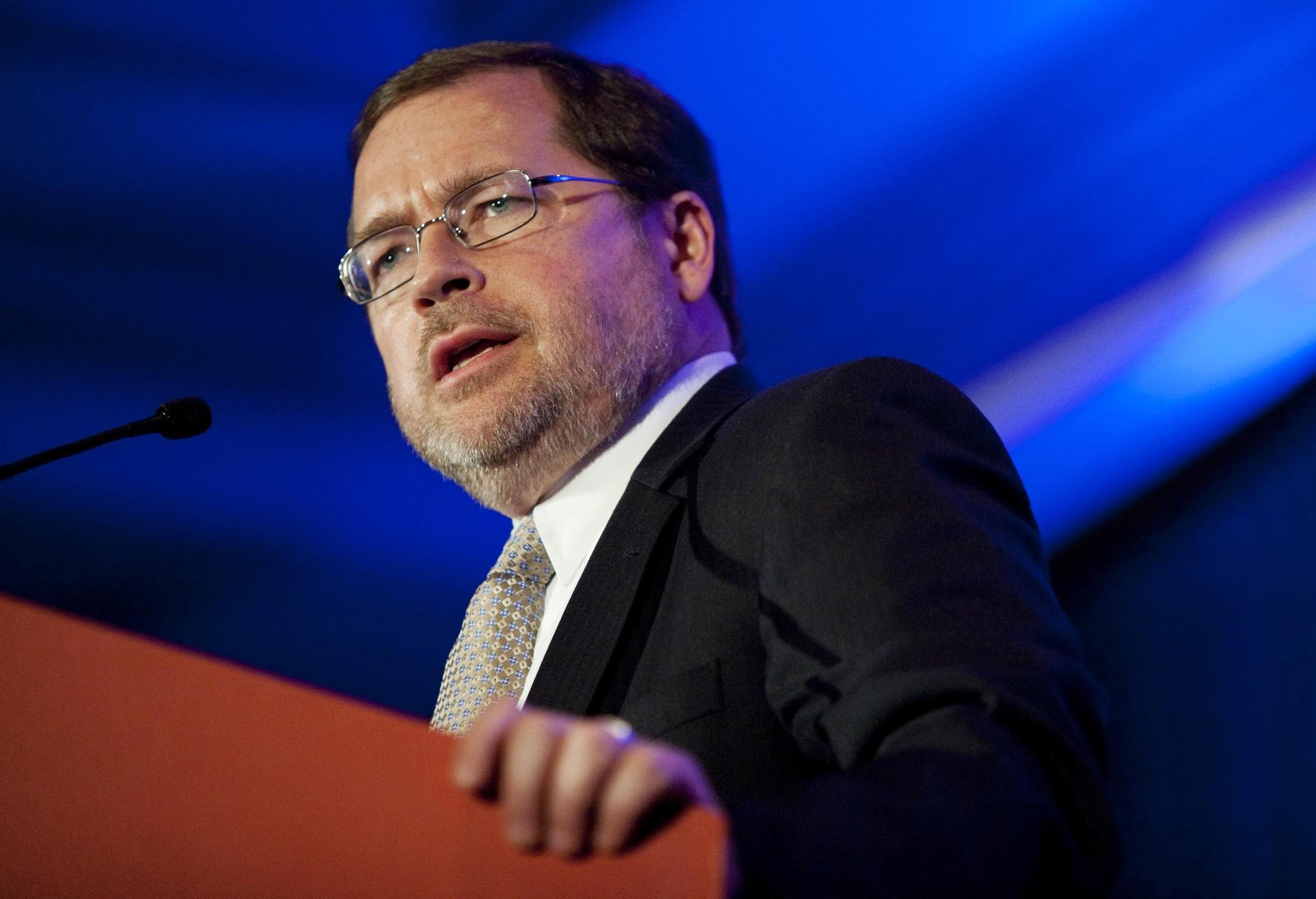 Grover Norquist, chairman of Americans for Tax Reform, speaks at the Faith and Freedom Coalition in Washington June 3, 2011. Republican White House hopefuls courted Christian conservative voters on Friday at the conference where U.S. economic concerns shared the stage with social issues that dominate the evangelical agenda. REUTERS/Joshua Roberts (UNITED STATES - Tags: POLITICS RELIGION BUSINESS) ORG XMIT: WAS707 ORG XMIT: CHI1106031927051180 ** Usable by BS, CT, DP, FL, HC, MC, OS and HOY **
