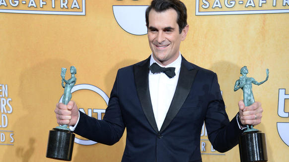 "Winner: Ty Burrell, ""Modern Family""; Alec Baldwin, ""30 Rock""; Jason Bateman, ""Arrested Development""; Don Cheadle, ""House of Lies""; Jim Parsons, ""The Big Bang Theory"""
