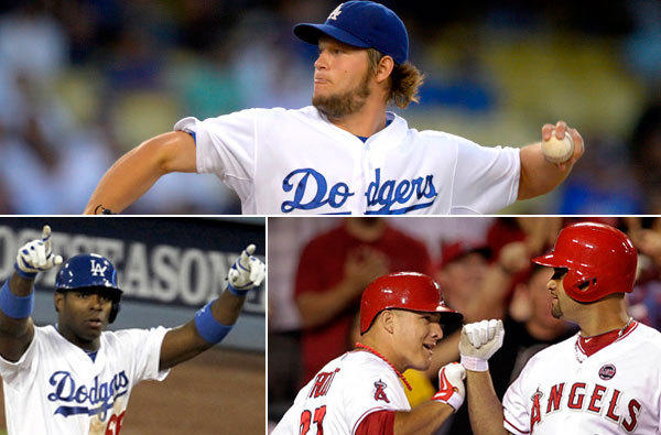 In a few weeks, the boys of summer (clockwise from top, Clayton Kershaw, Albert Pujols, Mike Trout and Yasiel Puig) will begin spring training in the middle of winter.