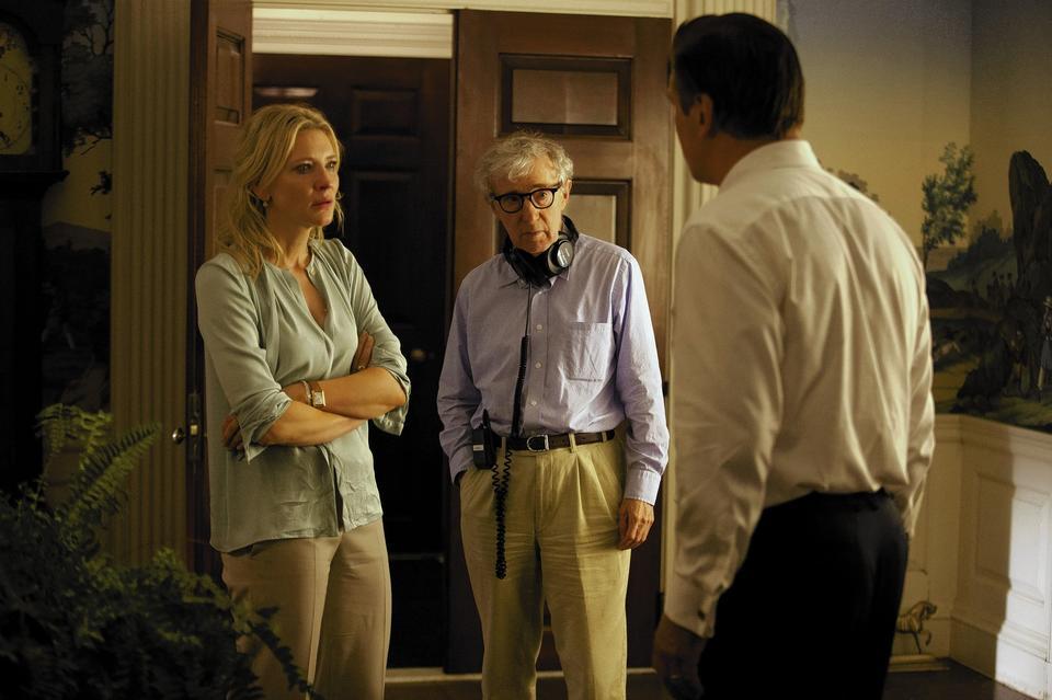 "Woody Allen directs Cate Blanchett and Alec Baldwin in ""Blue Jasmine."""