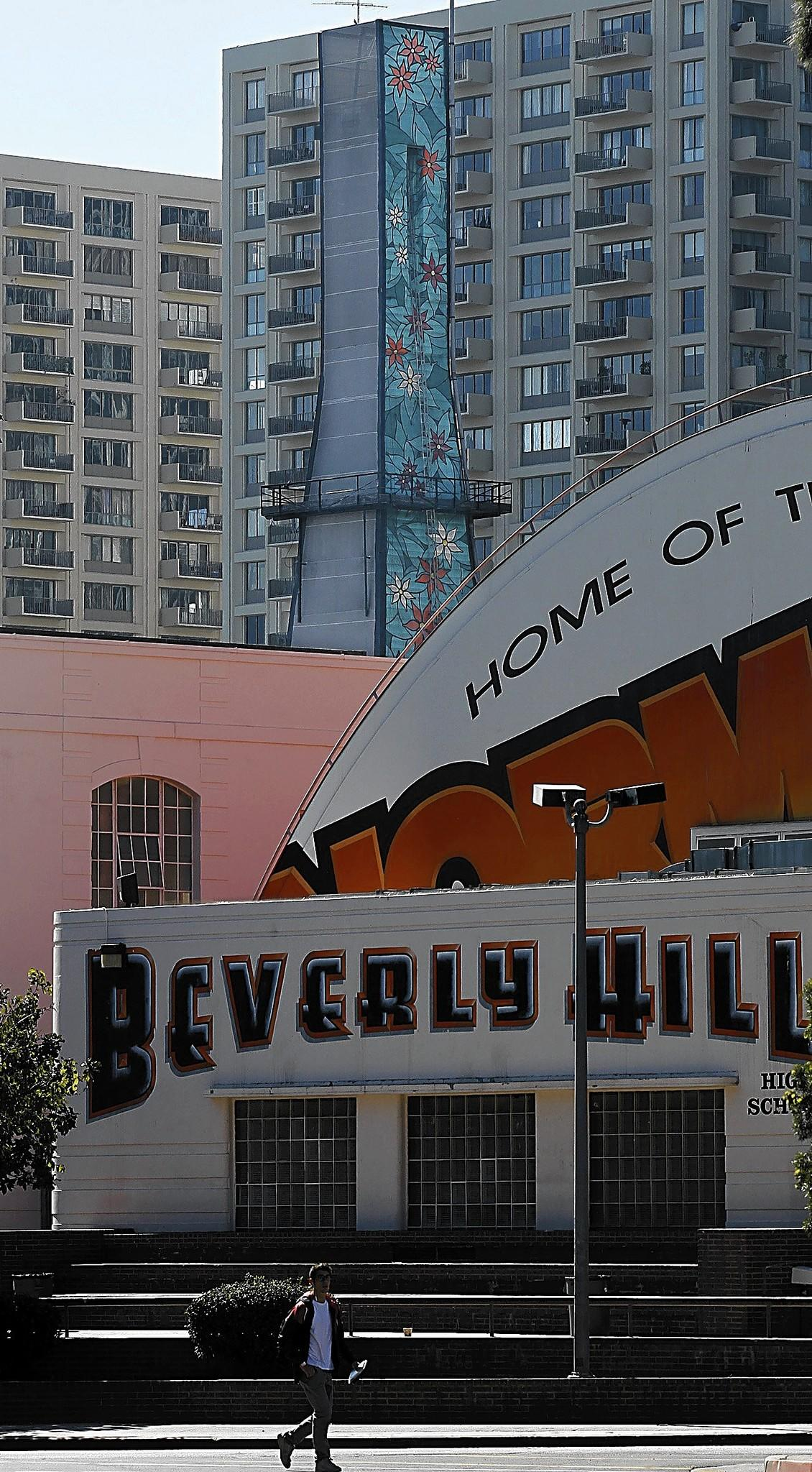 Beverly Hills High School, where the principal did not report more than $40,000 he received from a for-profit summer sports camp he ran for the school's athletes, a report said. The principal's attorney says the money was meant for the principal's brother and was transferred to him.