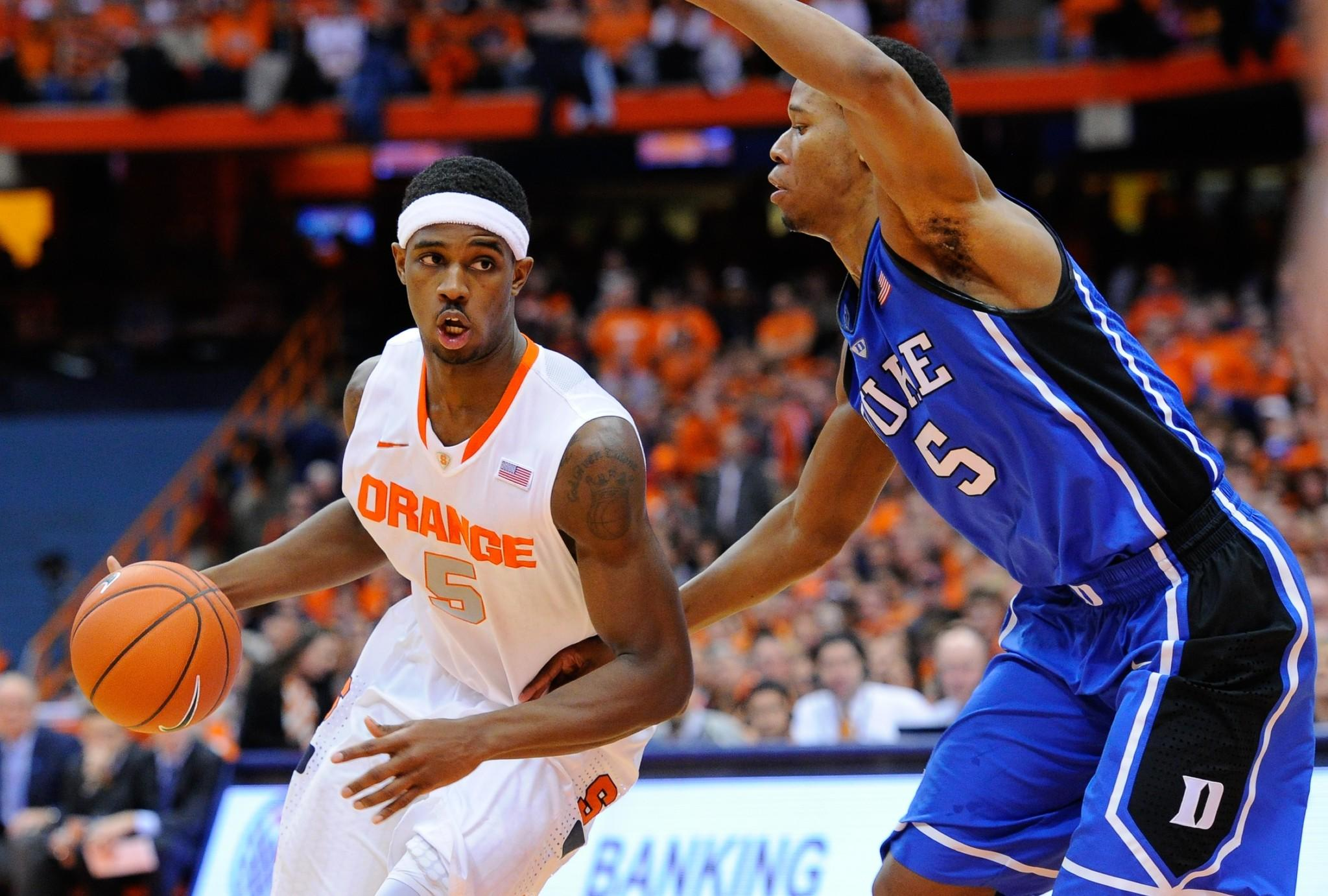 Forward C.J. Fair (City) keyed a Syracuse win over visiting Duke on Saturday night.