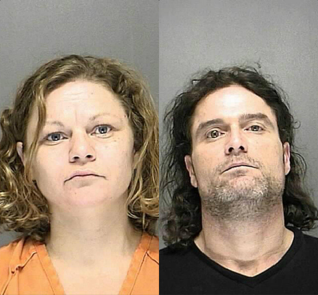 Michael Kirby, 44, and Linda Richards, 35, face charges after meth lab is found in shed where they lived.