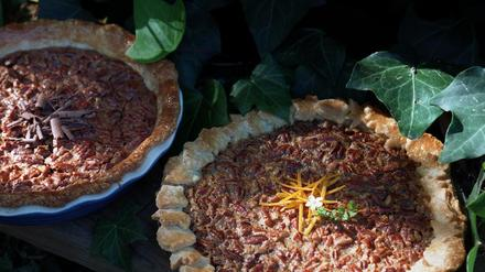 Pecan pie with a hint of orange