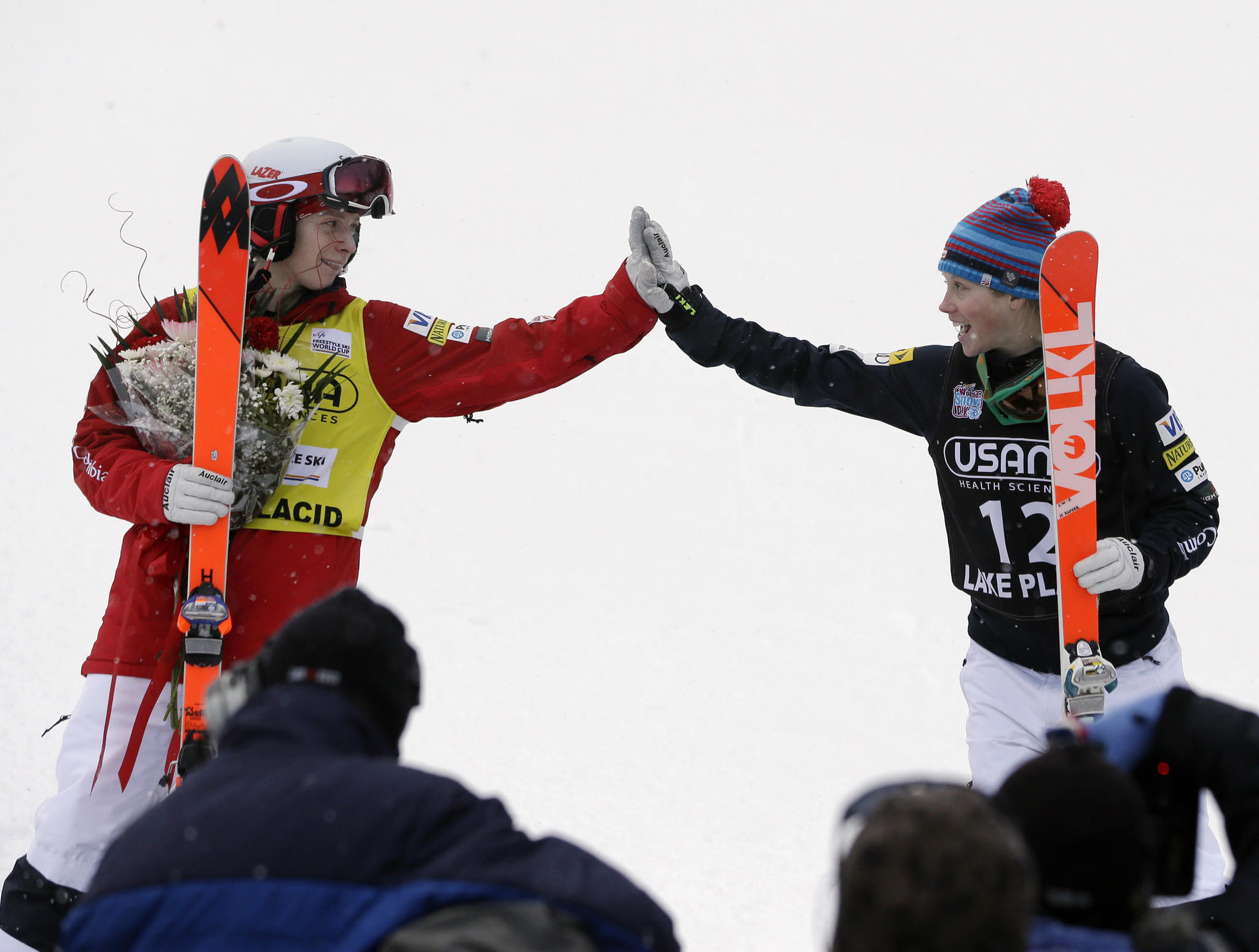 The high five could become missouris official greeting latimes hannah kearney left high fives us teammate heidi kloser after the womens freestyle m4hsunfo