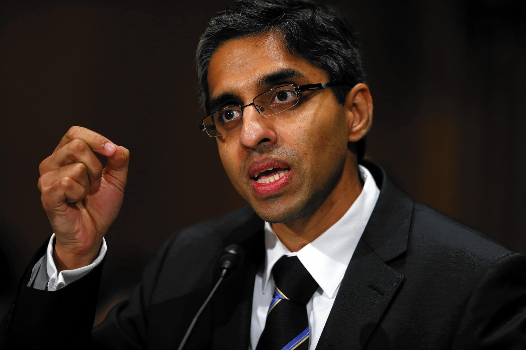 Vivek Hallegere Murthy, President Obama's nominee to become surgeon general, testifies at his confirmation hearing before the Senate Health, Education, Labor and Pensions Committee.