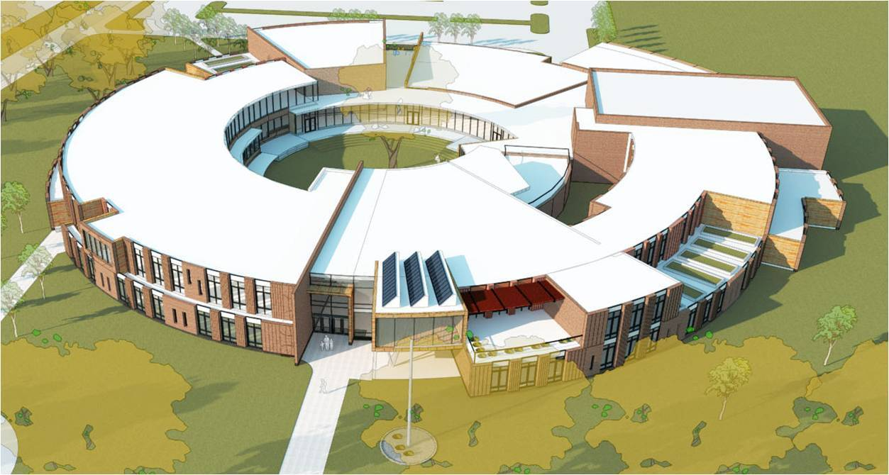 West Hartford Public School officials have included $50.78 million in spending over two years in its proposed capital improvement plan. The plan includes $42 million in 2014-2015 for the new Charter Oak International Academy building, $350,000 each of the next four years for school security upgrades and $8.08 million over the next two years for various building improvements.   Pictured is a rendering of the planned Charter Oak school building.