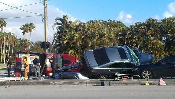One man died in this five-car crash in Pembroke Pines, police said.