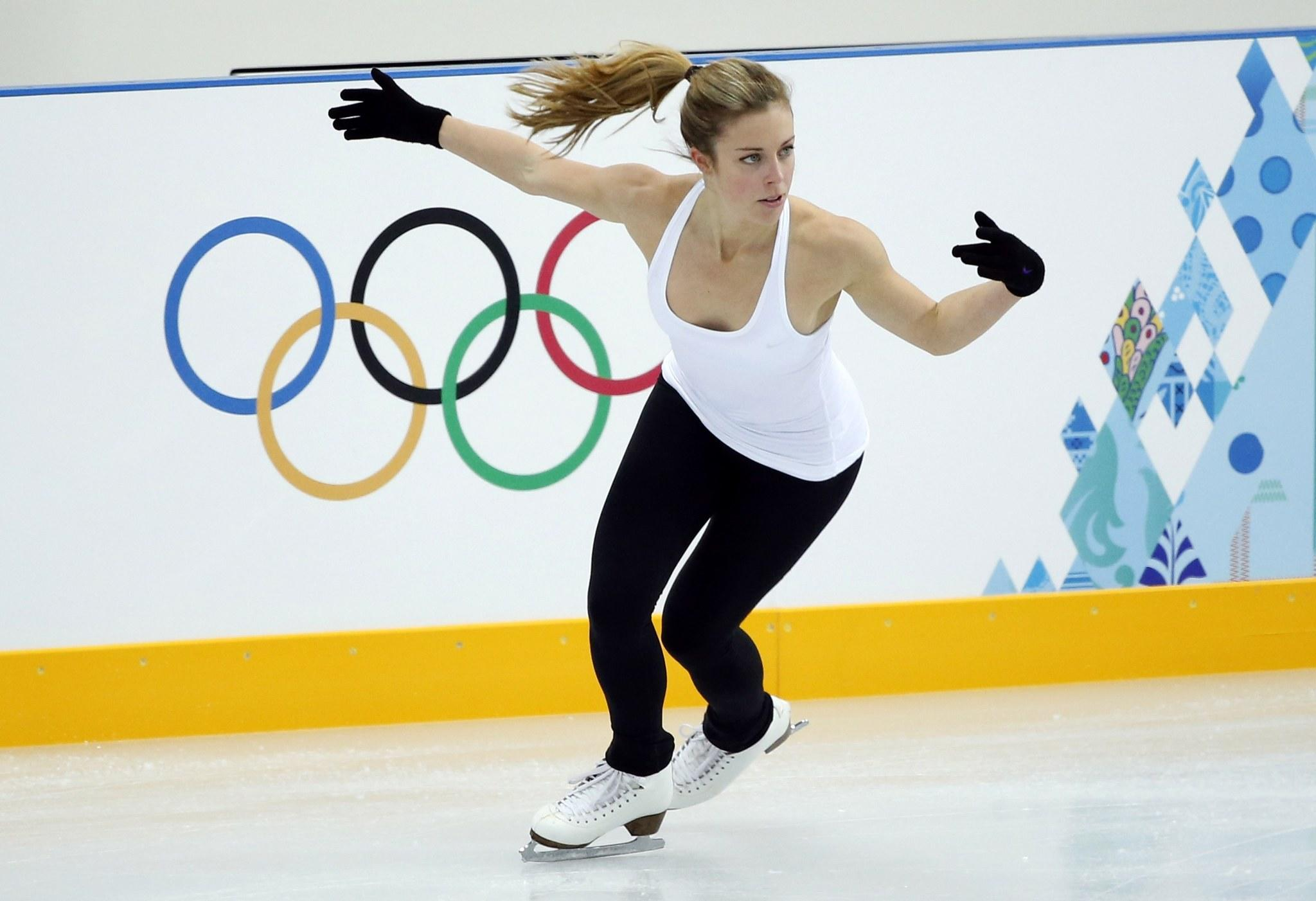 Ashley Wagner at practice Wednesday.