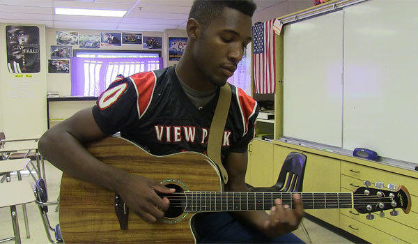 Cameron Griffin, a linebacker from View Park Prep, also plays running back -- and guitar. He could do all three at UCLA.