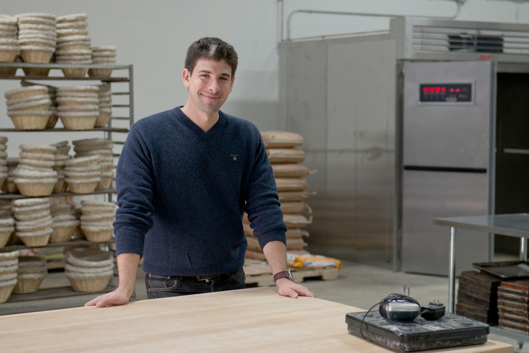 Scott Kluger stands in the new commissary kitchen and bake space in Bloomfield. Kluger says the area will allow Hartford Baking Company to expand its wholesale and retail options in Connecticut and the region.