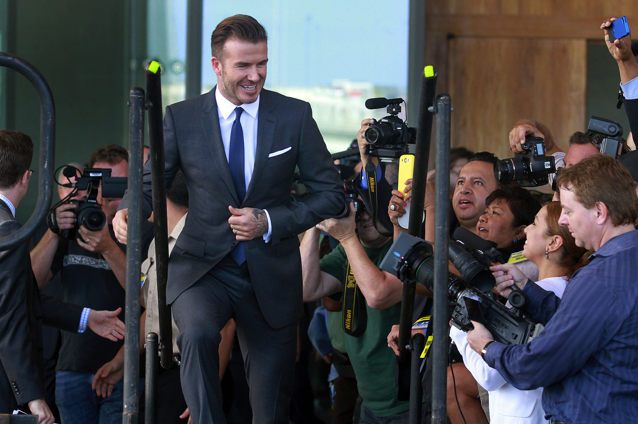 Celeb-spotting around South Florida - David Beckham makes announcement