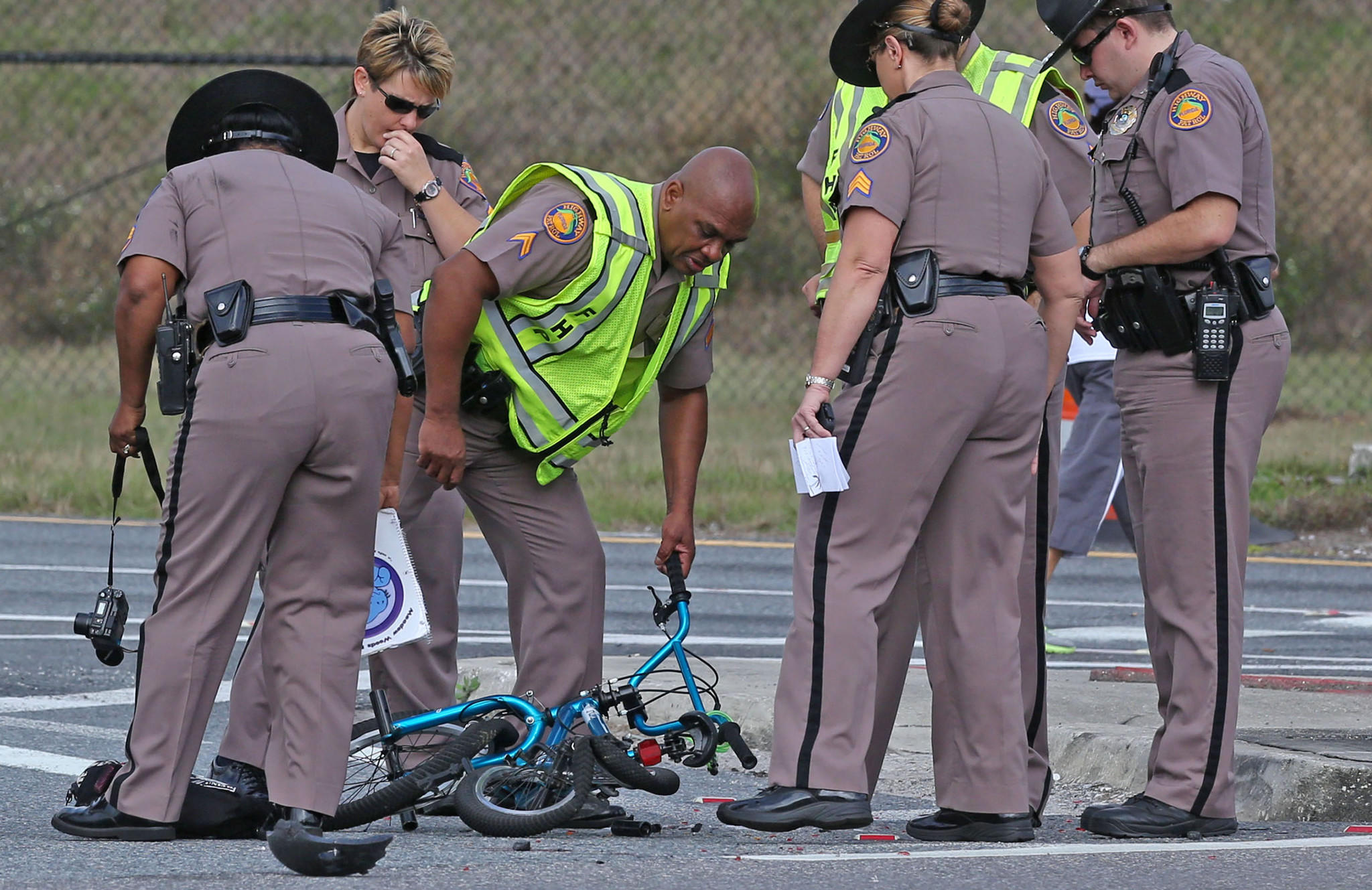 Florida Highway Patrol investigate an incident after 6-year-old boy was killed today in southeast Orange County. A semi tractor-trailer hauling roofing materials crashed into him as he was riding his bike to school.