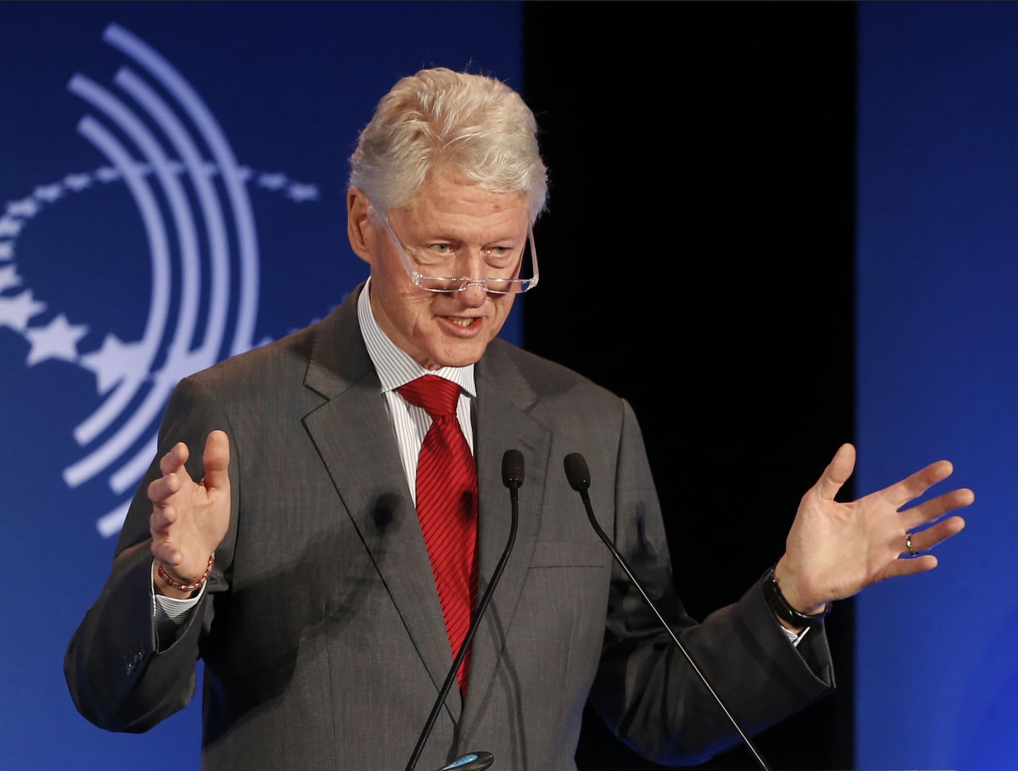 President Clinton speaks at a CGI Clinton Global Initiative Latin America event last year.