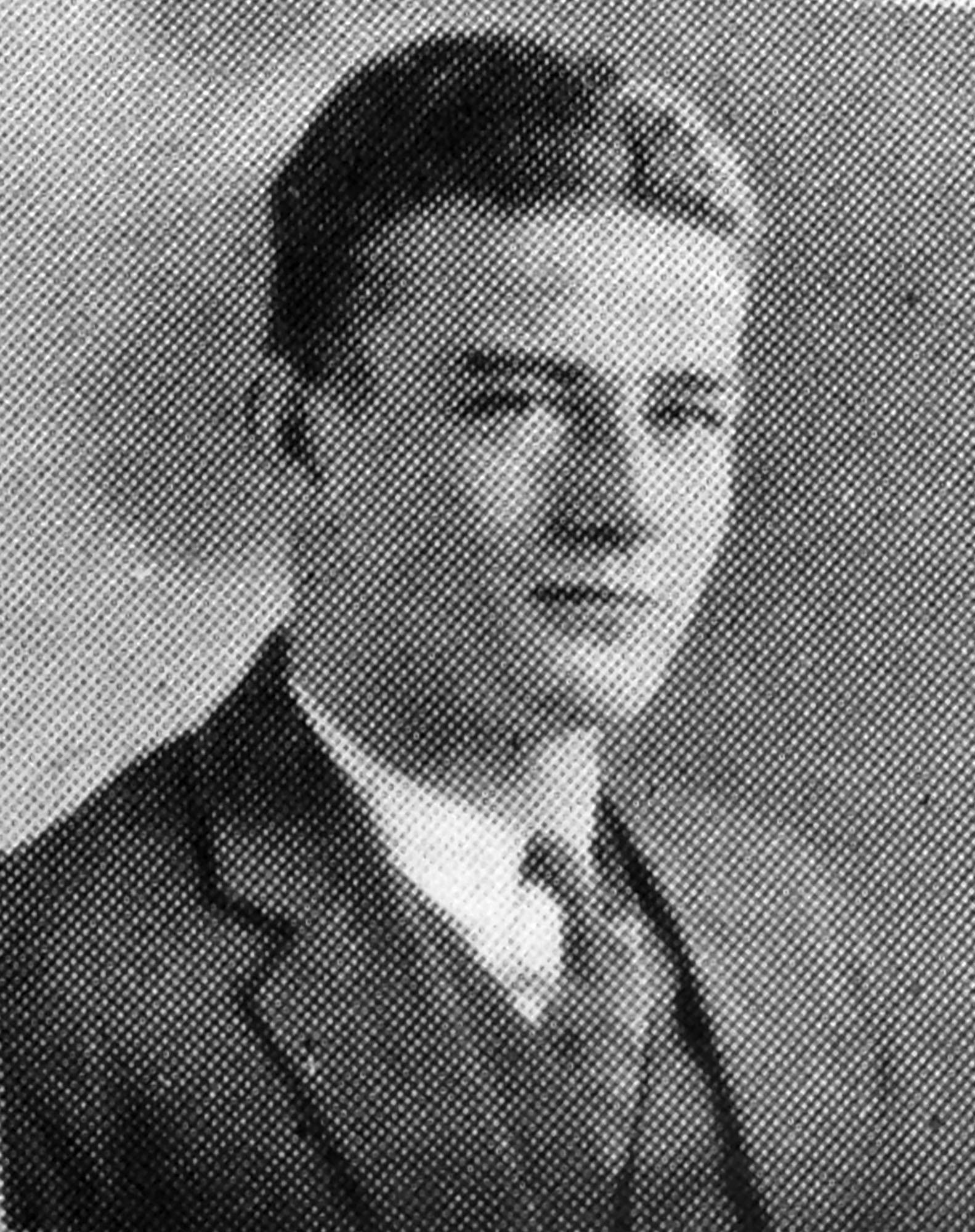 John Wayne's senior photo in the 1925 yearbook from Glendale High School, where he was known as Marion Morrison.