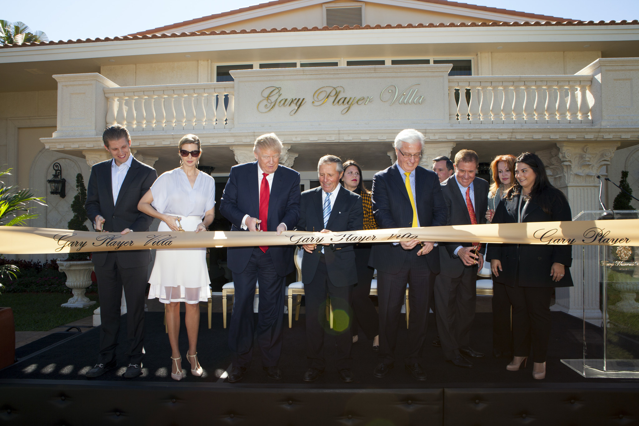 Celeb-spotting around South Florida - Donald, Ivanka and Eric Trump Unveil New Villa at Trump National Doral Miami