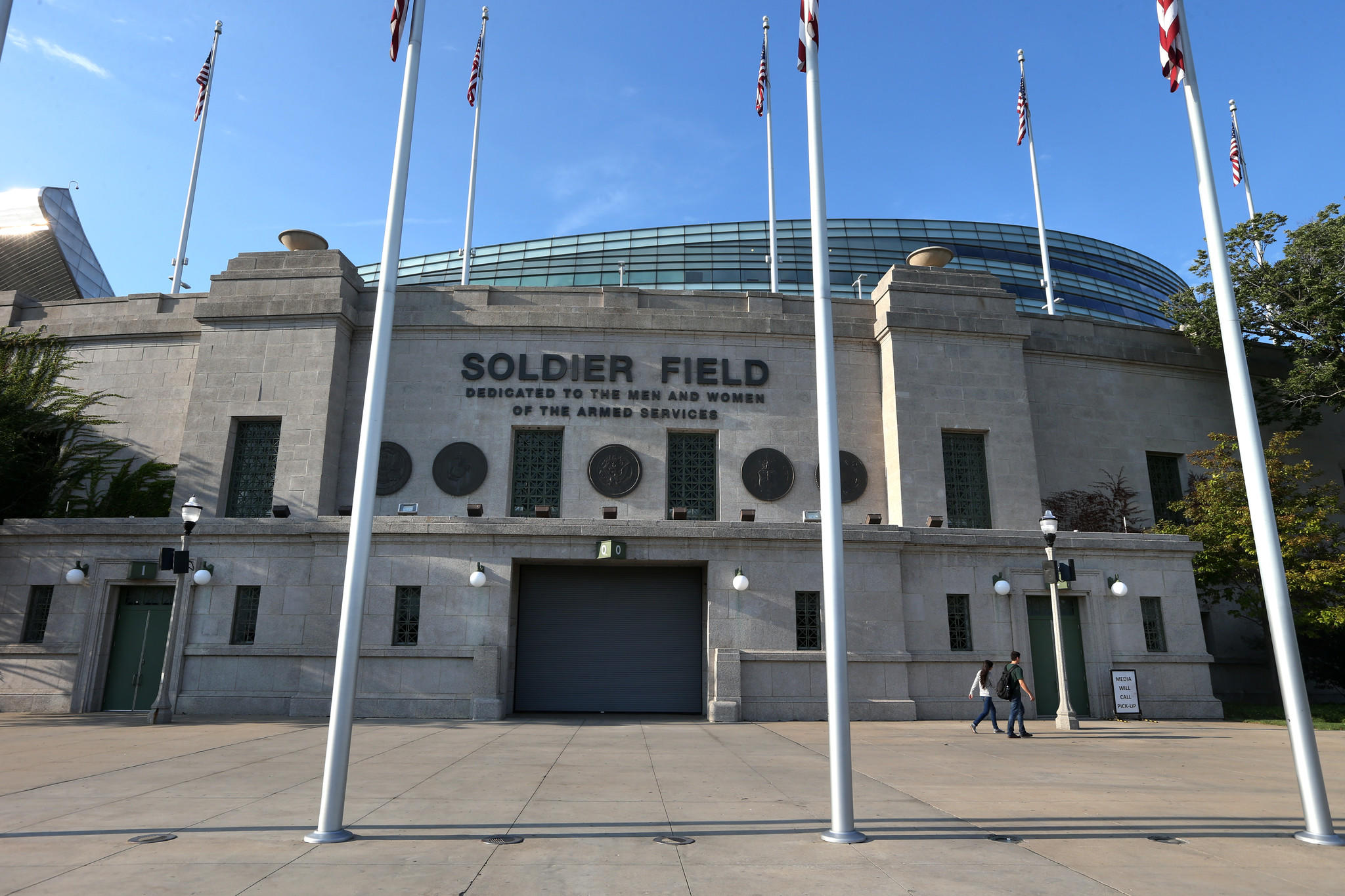 Exterior of Soldier Field in Chicago on Wednesday, September 4, 2013.