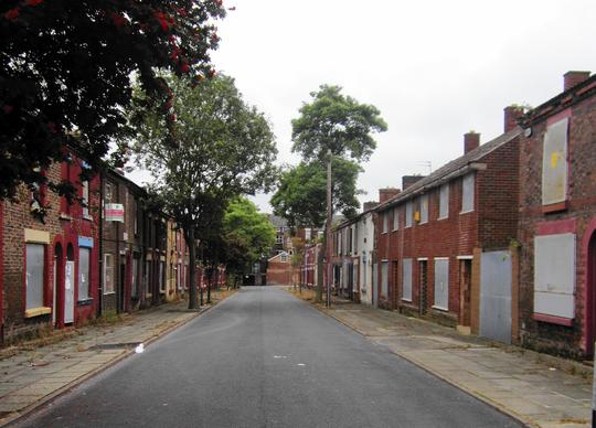 Madryn Street, where Ringo Starr lived, is now empty. His grandparents lived at the far end of the block.