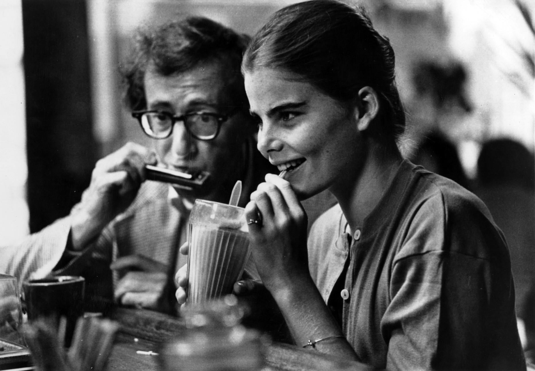"Woody Allen, left, and Mariel Hemingway costar in ""Manhattan."""