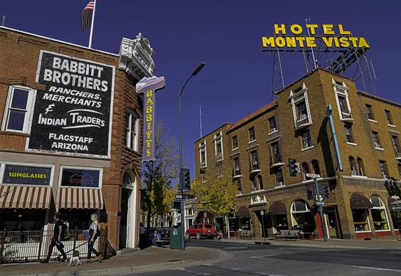 The supposedly haunted Hotel Monte Vista looms at the corner of Aspen Avenue and San Francisco Street in downtown Flagstaff, Ariz. Ask, and the clerk will hand you a sheet of paper detailing building's ghosts.