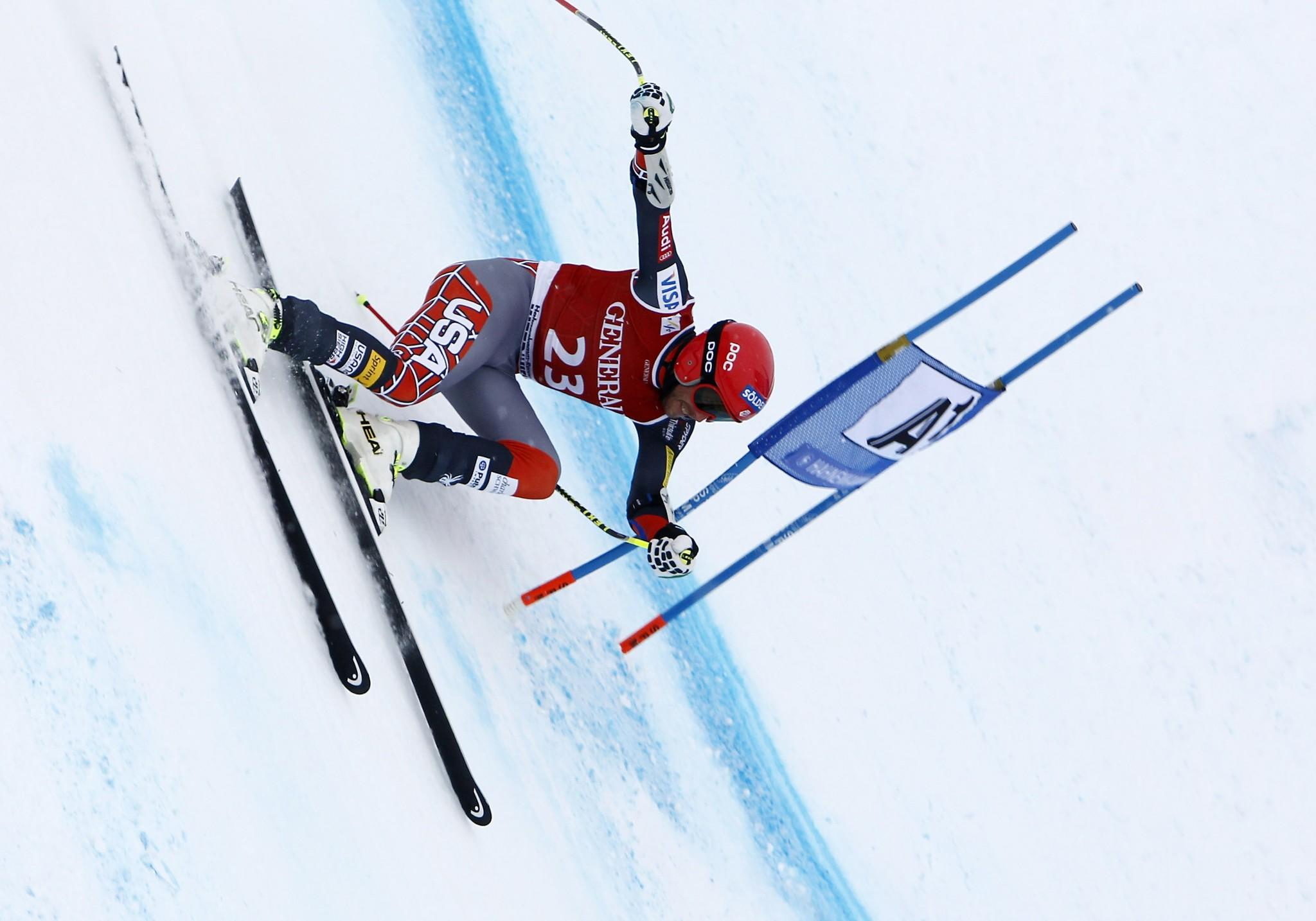 Bode Miller takes the 2nd place during the Audi FIS Alpine Ski World Cup Men's Super-G in Kitzbuehel, Austria. (Alexis Boichard/Getty Photo)