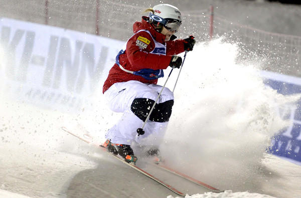 Hannah Kearney competes during Freestyle Ski World Cup event in Kuusamo Finland, in December.