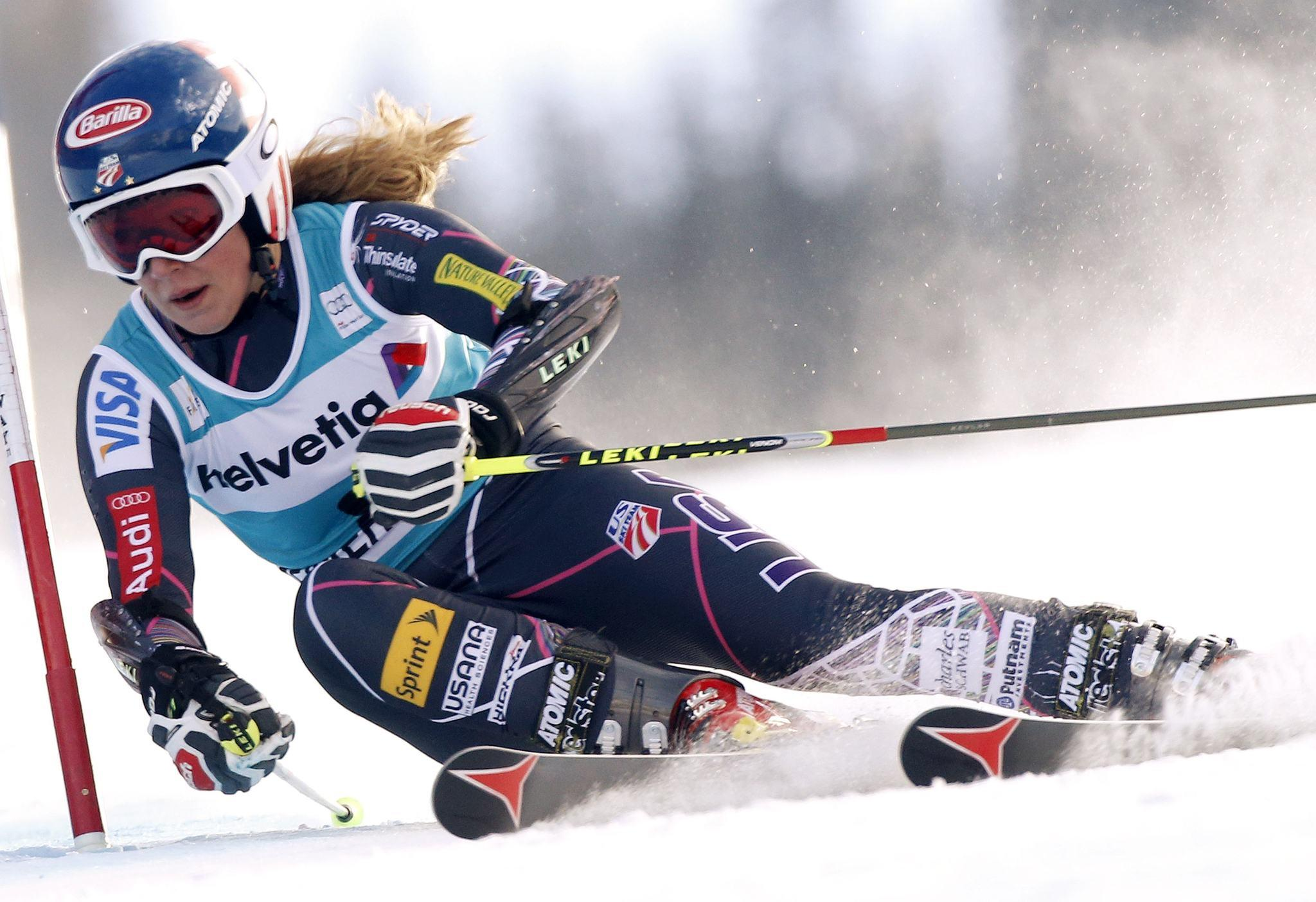 Mikaela Shiffrin skis to the second best time in the first run in the women's World Cup Giant Slalom ski race in Beaver Creek, Colorado. (Rick Wilking/Reuters Photo)