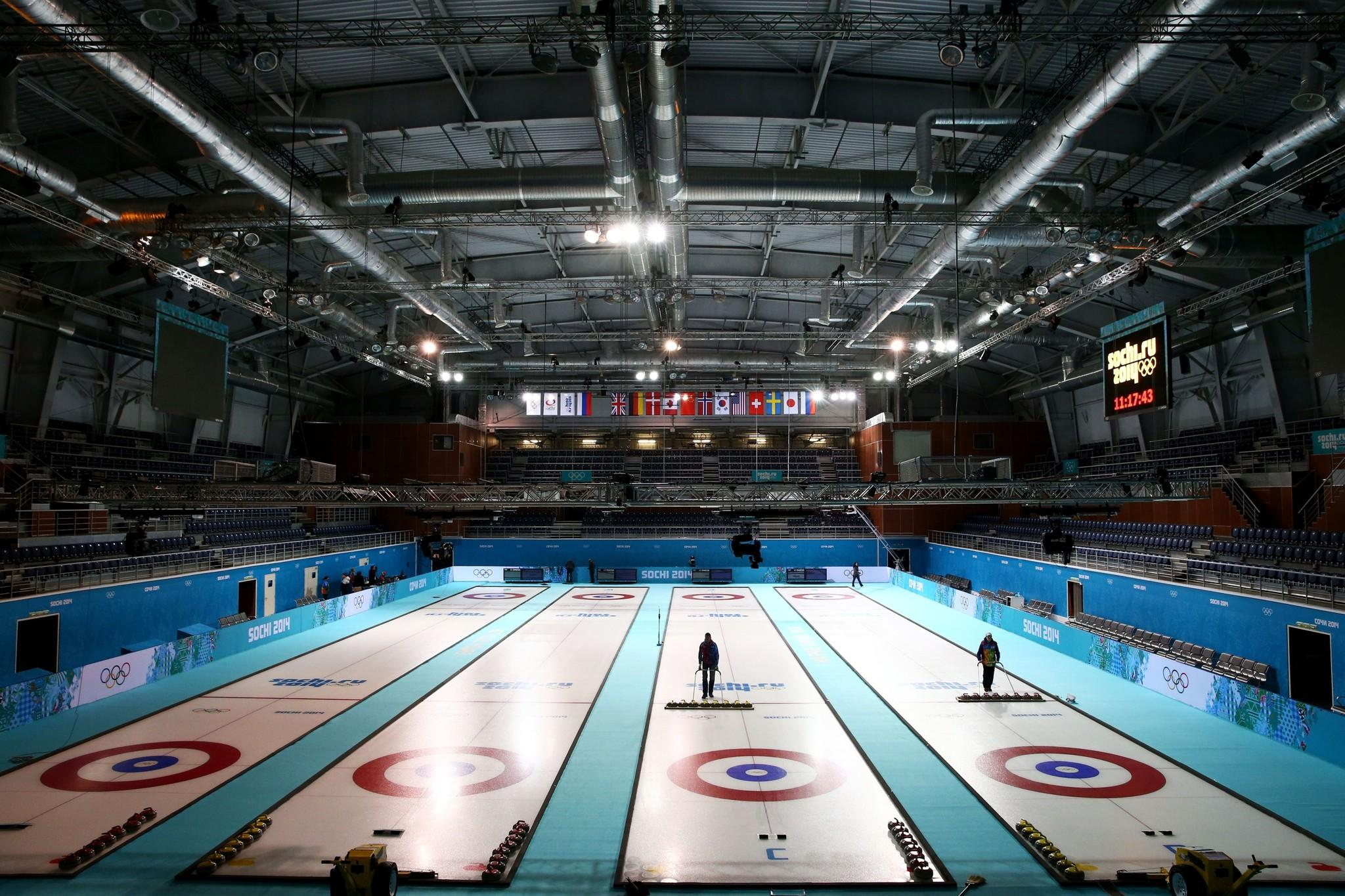 A general view of Ice Cube Curling Center ahead of the Sochi 2014 Winter Olympics. (Robert Cianflone/Getty Photo)