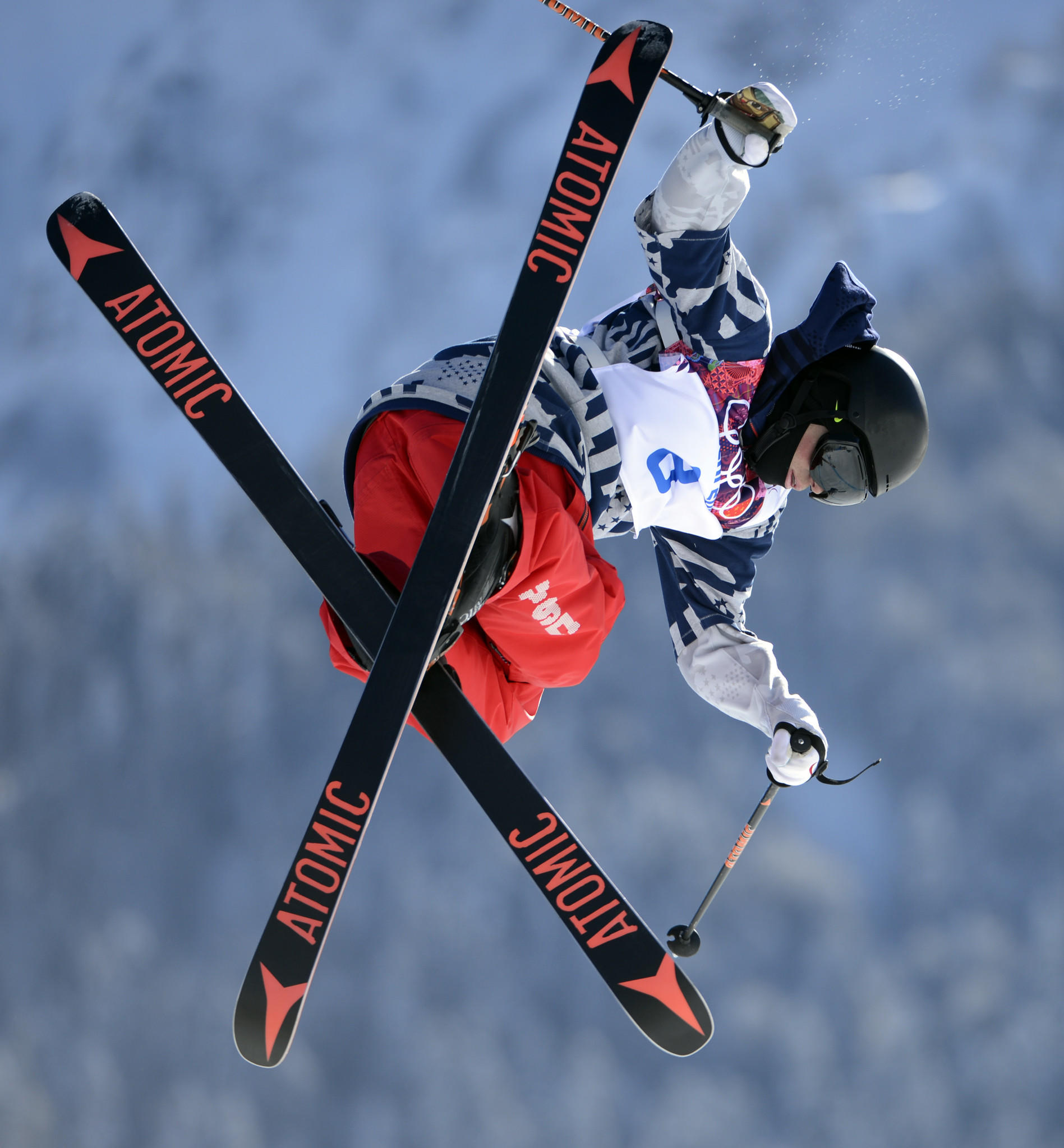 Gus Kenworthy during training runs at Extreme Park. (Jack Gruber/USA TODAY Sports Photo)