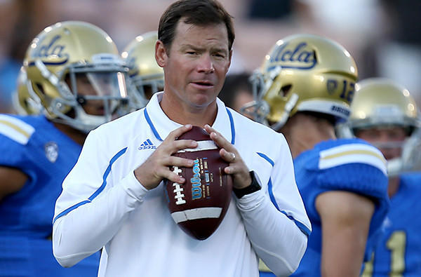 Coach Jim Mora guided UCLA to a 10-3 record, including a 42-12 victory over Virginia Tech in the Sun Bowl.