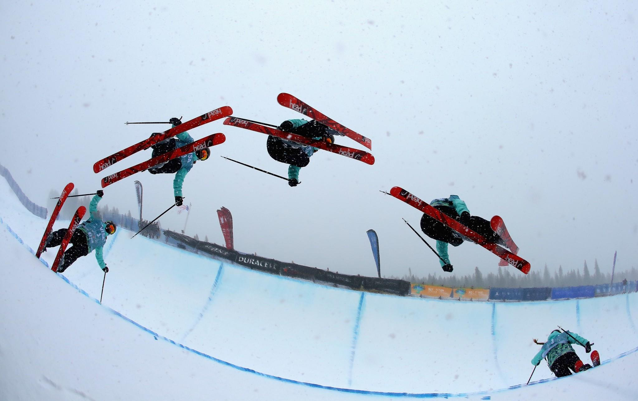 Maddie Bowman practices ahead of the women's halfpipe final in Breckenridge. (Streeter Lecka/Getty Photo)