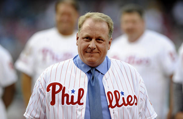 Former Philadelphia pitcher Curt Schilling was inducted into the Phillies Wall of Fame last season.