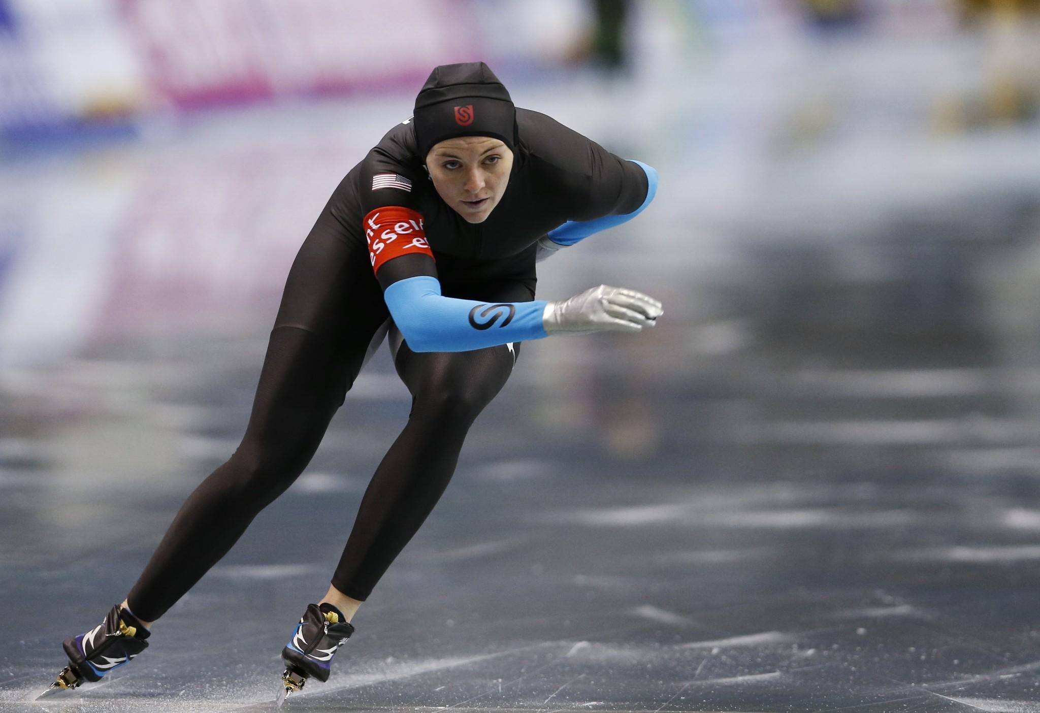 Heather Richardson races during the women's event. (Issei Kato/Reuters Photo)