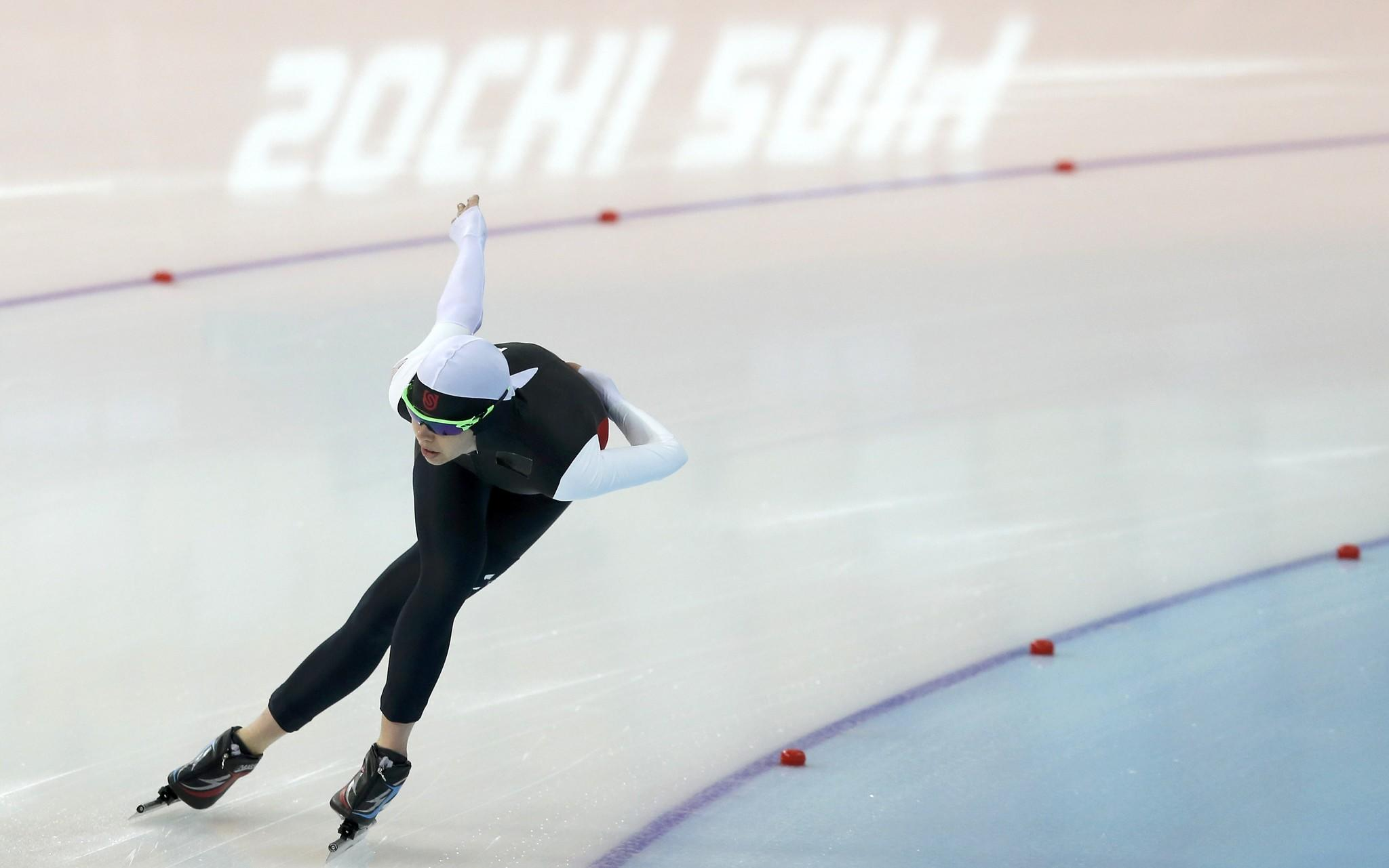 Maria Lamb skates during training competition at the Adler Arena. (Phil Noble/Reuters Photo)