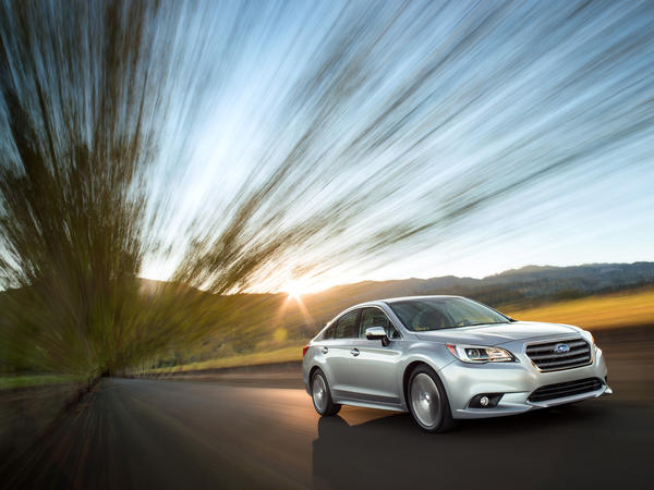 The 2015 Subaru Legacy was introduced Thursday at the 2014 Chicago Auto Show. The Legacy comes standard with all-wheel drive and will go on sale this summer.