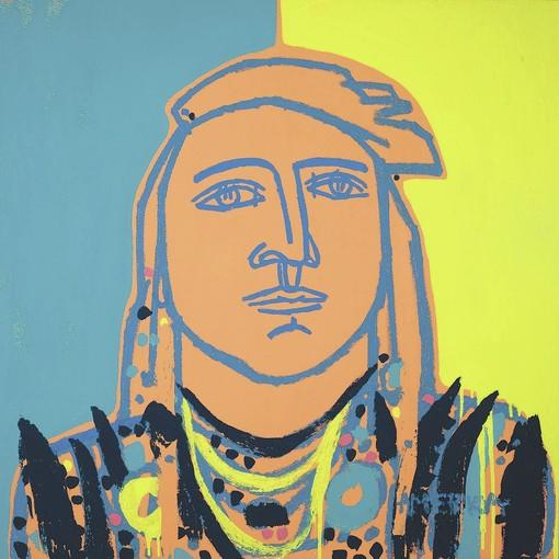 "JoAnne Artman Gallery welcomes America Martin for her annual Solo Exhibition in February and March. Pictured is ""Sunshine Man."""