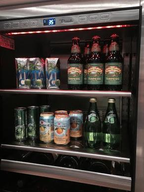Beverage coolers equipped with colored lighting were among the products displayed at True Professional Series.