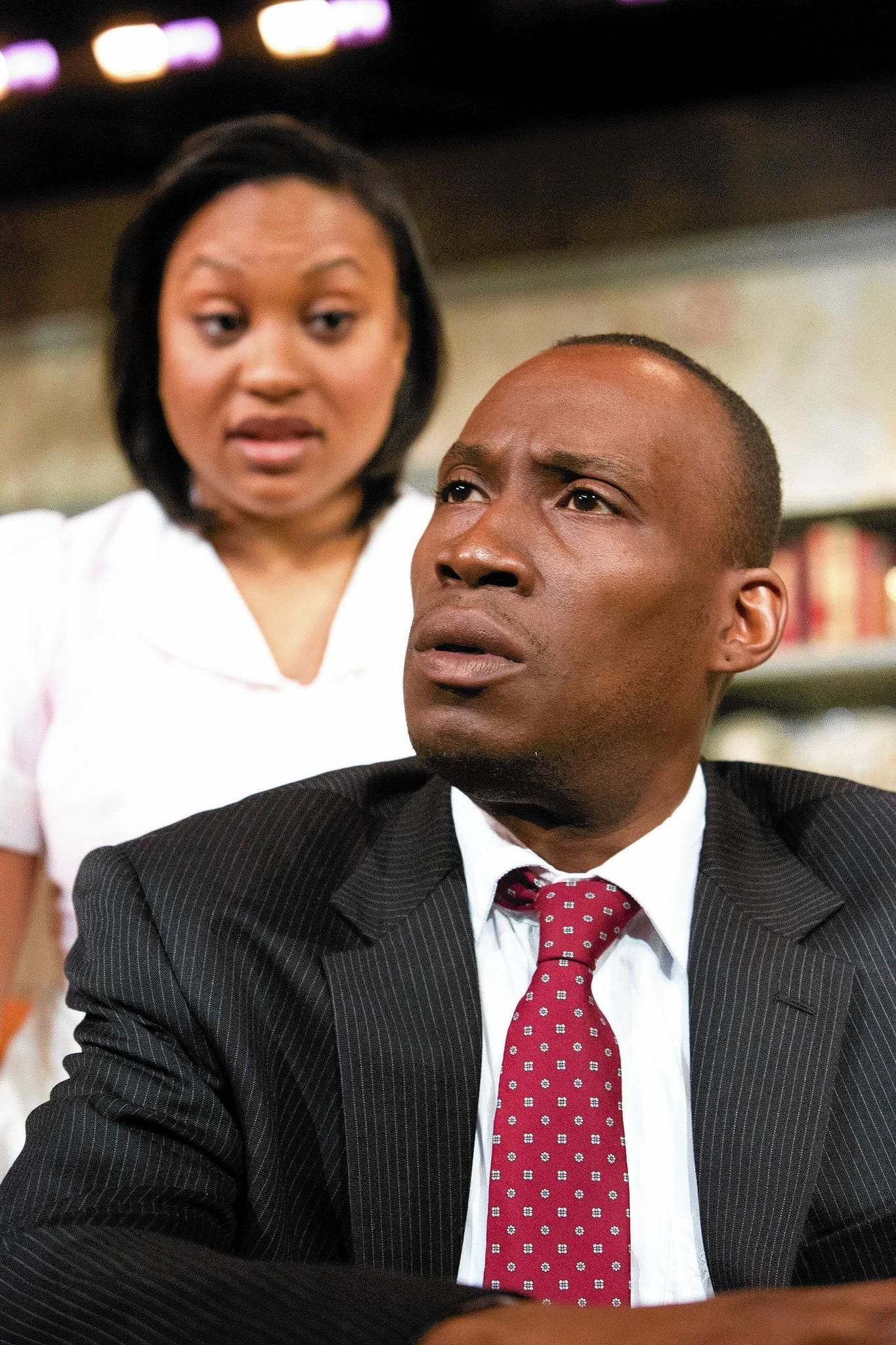 "Felichia Chivaughn and Clinton Harris star in ""The Mountaintop"" at Mad Cow Theatre."