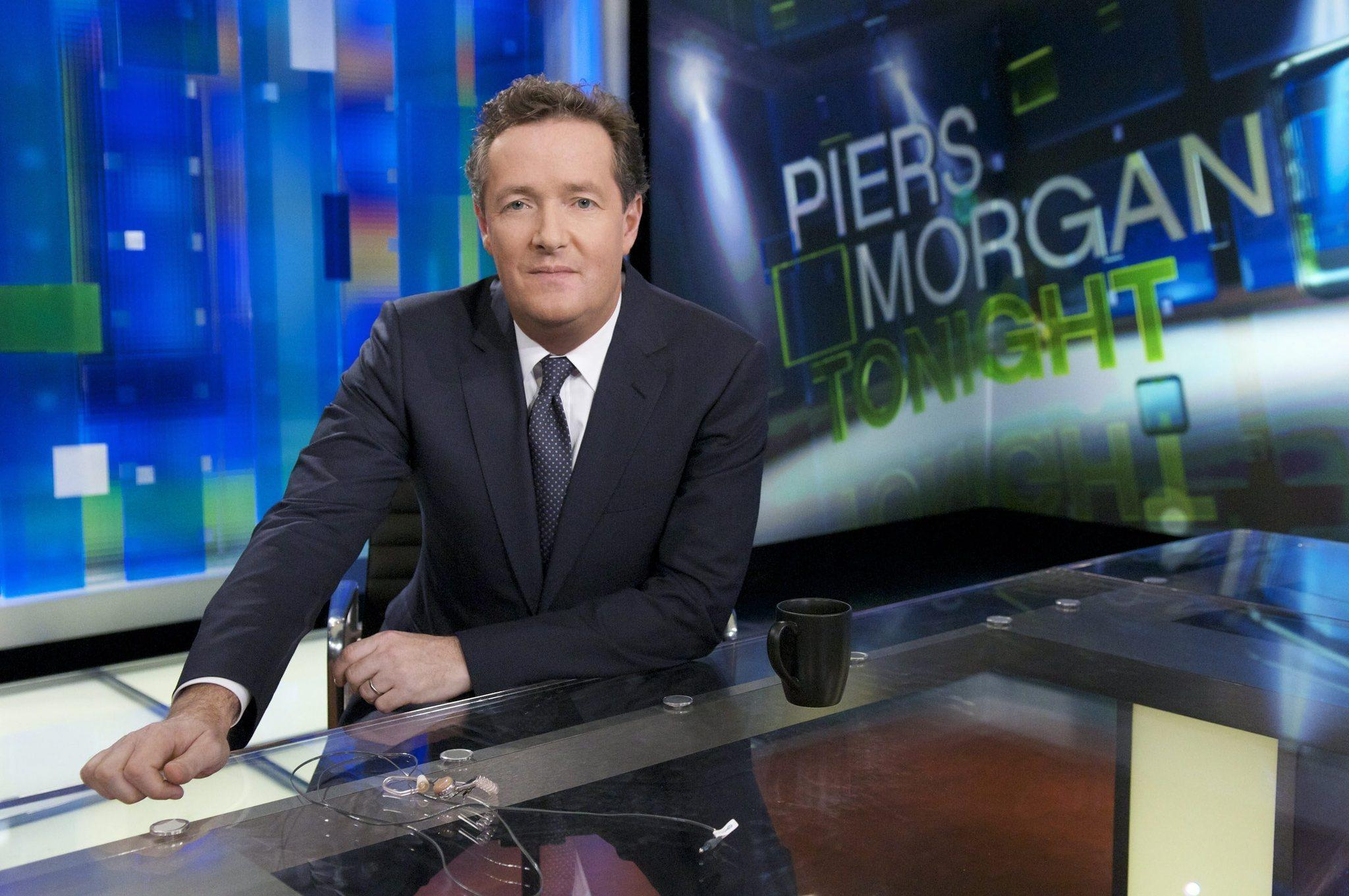 Piers Morgan, above, interviewed transgender advocate and author Janet Mock.
