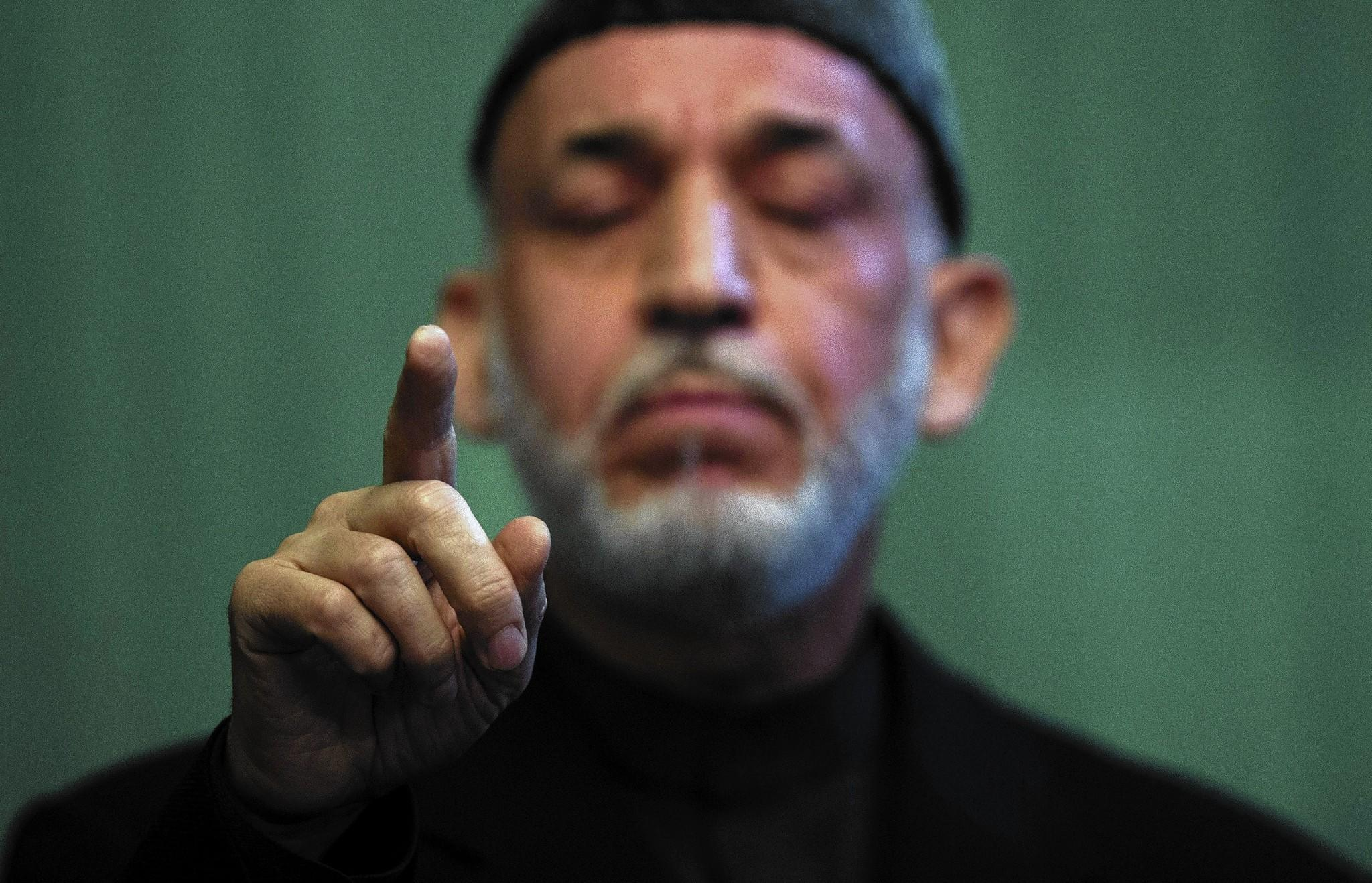 Afghan President Hamid Karzai, at a news conference last month in Kabul, has held off on signing a bilateral security agreement with the U.S.