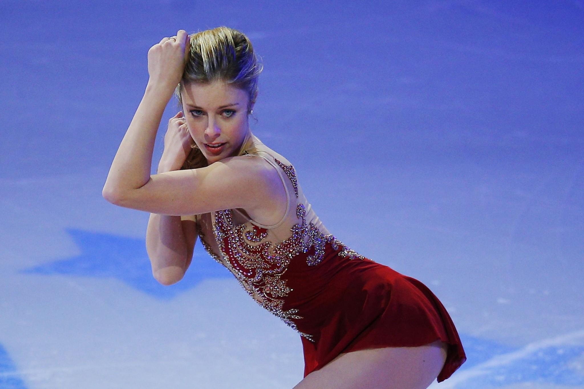 Ashley Wagner skates during an exhibition event at the conclusion of the U.S. Figure Skating Championships.