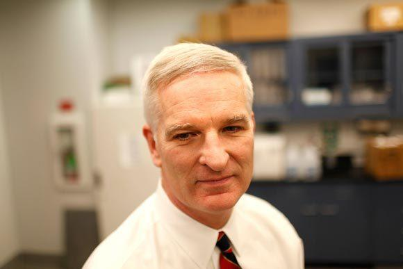 Portrait of Lake County Sheriff Mark Curran who is temporarily in charge of the Lake County Coroner's office seen here at the Lake County Coroner office in Waukegan, IL on Monday, February 28, 2011. He is seen standing inside the toxicology lab at the coroner's office.