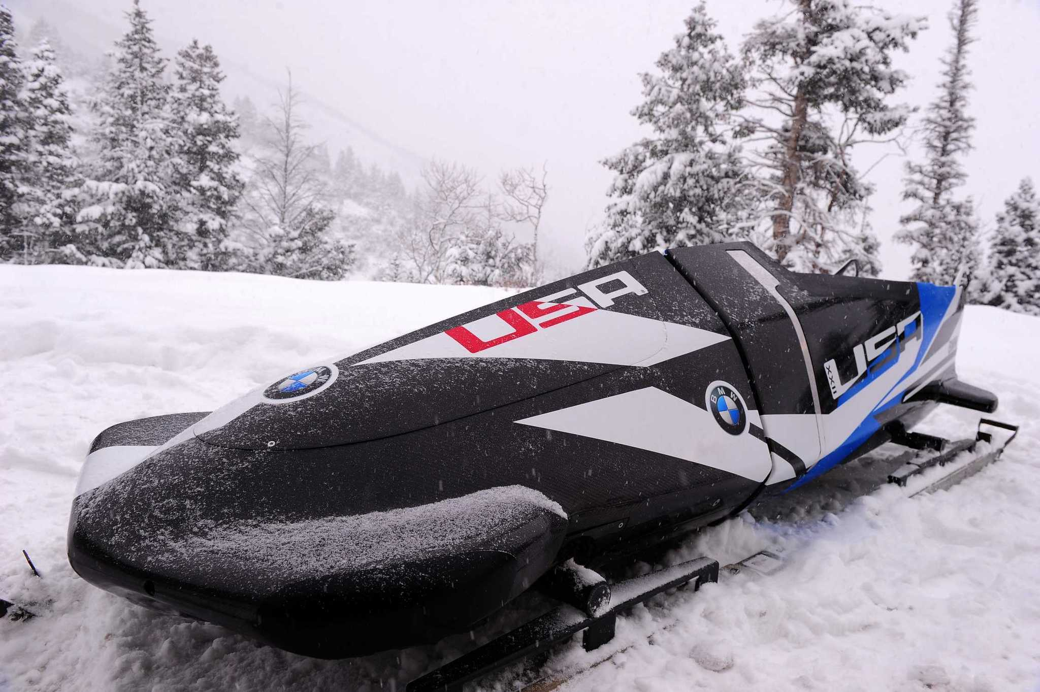 The U.S. men's bobsled team will race a new, BMW-designed two-man bobsled.