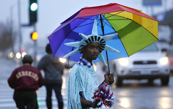 L.A. rainstorm