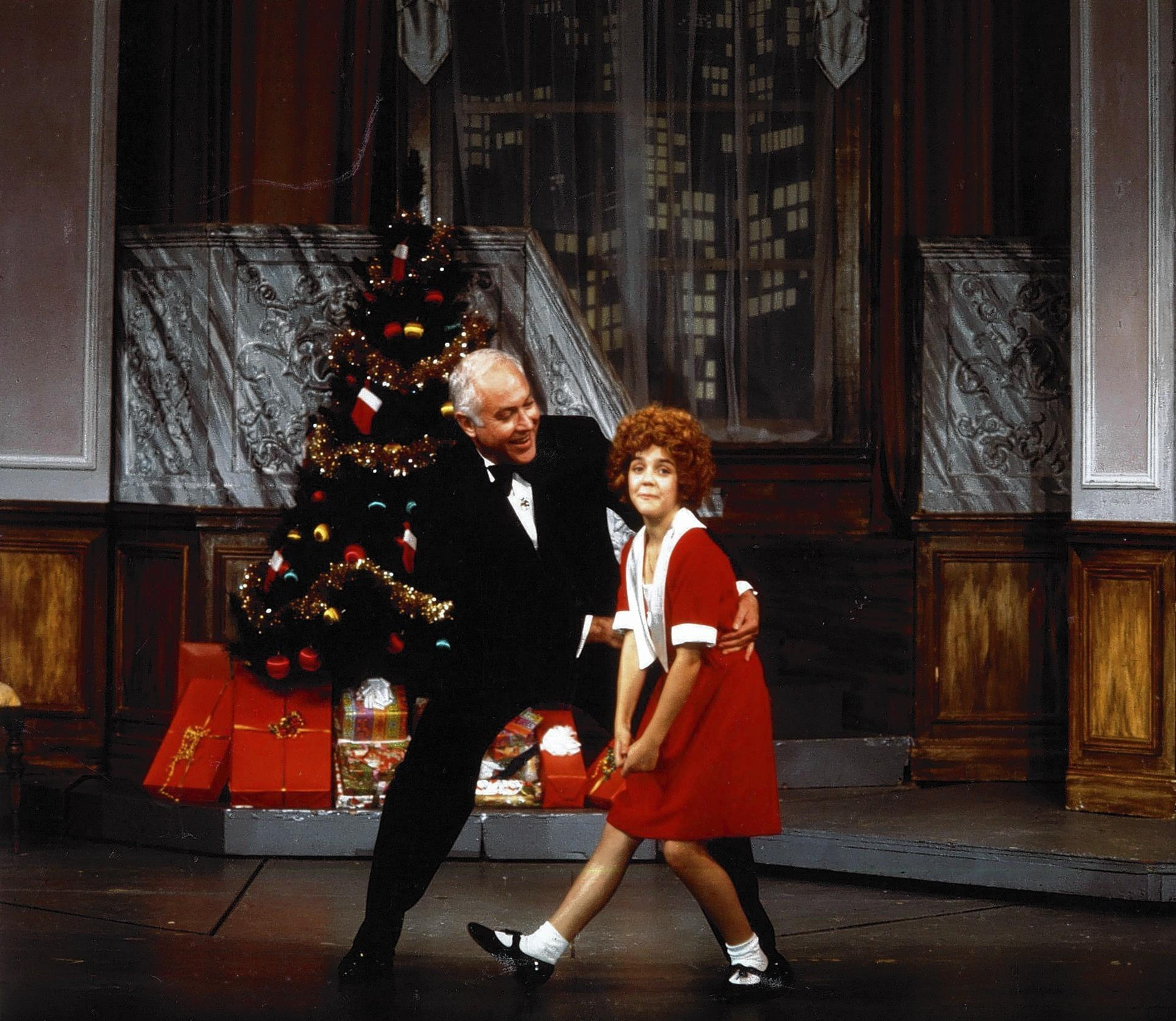 "Annie and Oliver Warbucks in Goodspeed's 1976 production of ""Annie."""