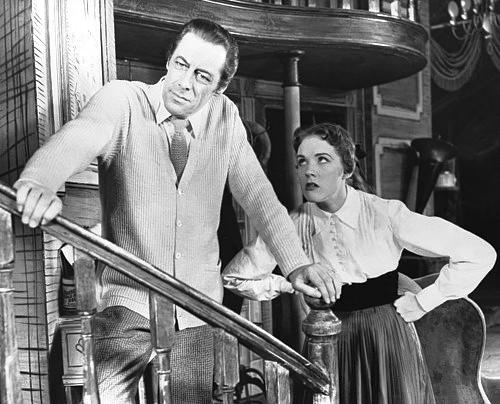 "Rex Harrison and Julie Andrews in a scene from the musical ""My Fair Lady"""