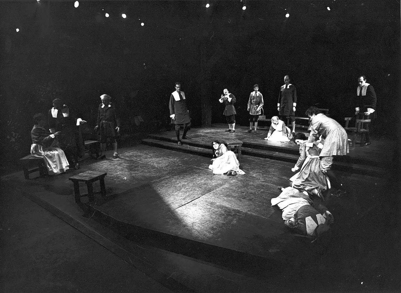 "The first production of New Haven's Long Wharf Theatre was Arthur Miller's ""The Crucible."""